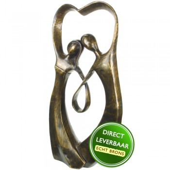 Bronzen beeld Samenzijn Eduard Martens