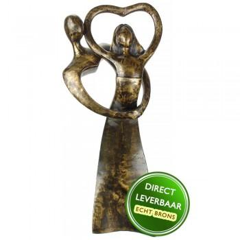 Bronzen beeld Hartendans 34cm Eduard Martens