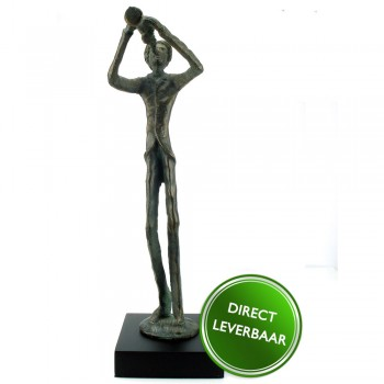 Bronzen beeldje Trompettist Galerie en Kunstwinkel voor bereikbare Kunst Amersfoort