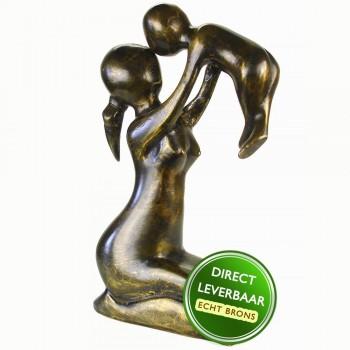 Moedergeluk beeld brons