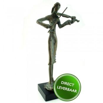 Bronzen beeldje Violiste Galerie en Kunstwinkel Art Unica Amersfoor