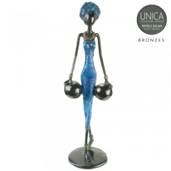 Afrikaans Bronzen beeld Sandrine Patrice Balma