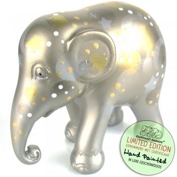 Sparkling Celebration Silver Elephant Parade olifant beeldje