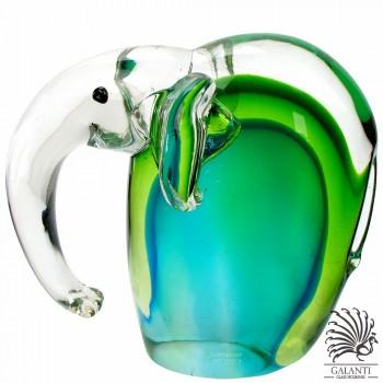 Olifant glaskunst groen