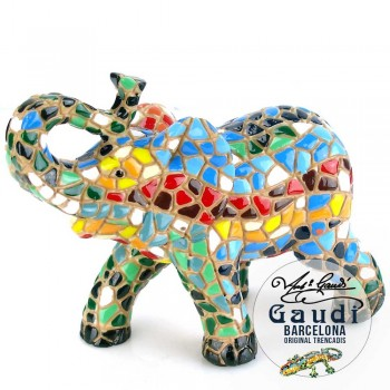 Barcino Olifant beeldje mozaiek