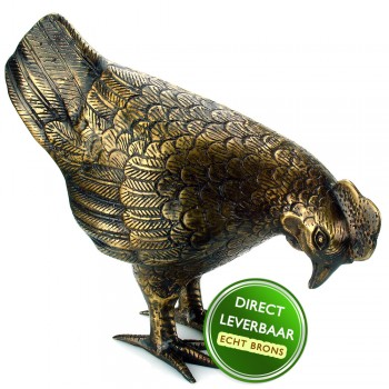 Bronzen beeldje Kip Art Unica