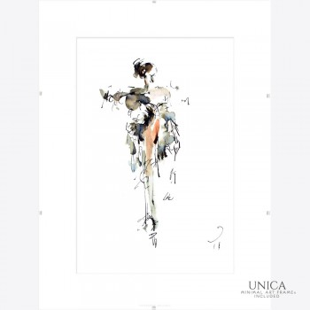 Elegance schilderij elegante vrouw