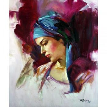 Schilderij Pensive Woman, Kunst Galerie en Kunstwinkel Art Unica