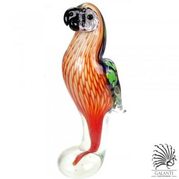 Papegaai beeld glas