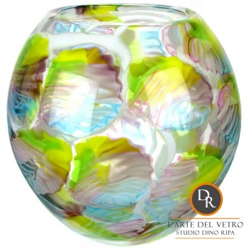 Glaskunst vaas Cremona Dino Ripa