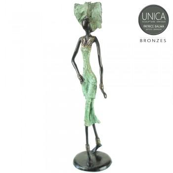Julia bronzen beeld Afrikaanse vrouw
