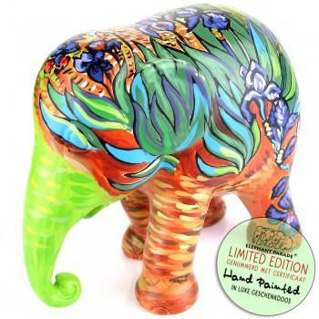 Irises Elephant Parade olifant beeldje