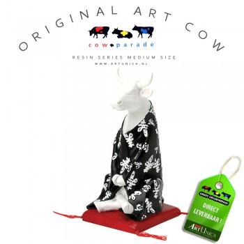 Meditating Cow Koebeeldje beschilderd