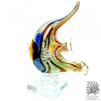 Vis sculptuur glas Sweet Swimmer glaskunst