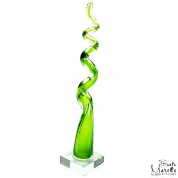To the top glassculptuur groen Dante Maretto