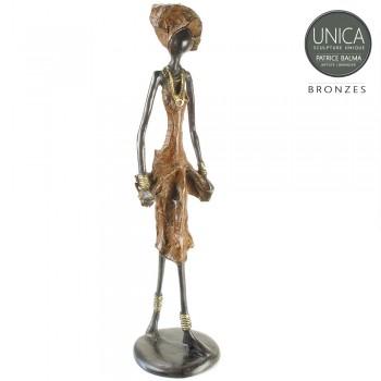 Irene bronzen beeld Afrikaanse vrouw