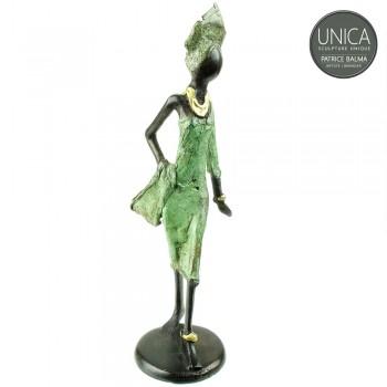 Afrikaans beeldje brons vrouw titel Oriane