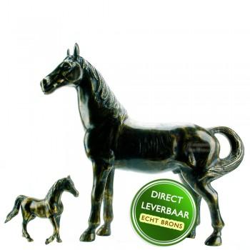 Bronzen paardenbeelden Sierpaard met Veulen Art Unica