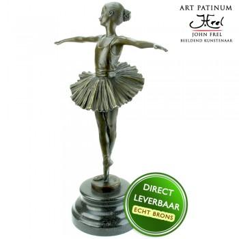 Bronzen ballerina beeld