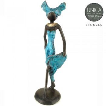 Benoite beeld brons Afrikaanse vrouw