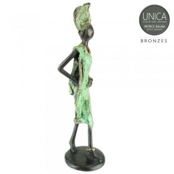 Afrikaans bronzen beeldje titel Gentile