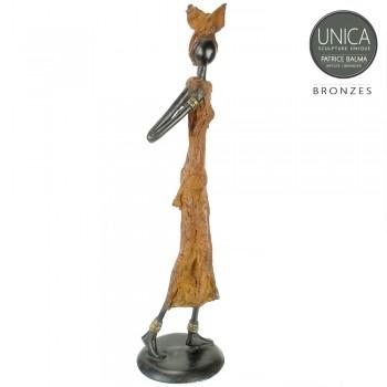 Romee bronzen beeld Afrikaanse vrouw