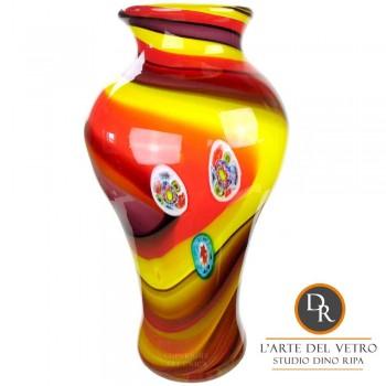 Unieke hoge glaskunst vaas