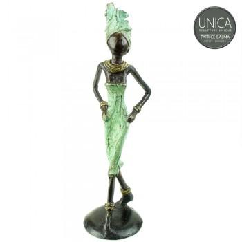 Afrikaans beeldje brons vrouw titel Villette