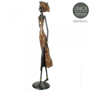 Apolline beeld brons Afrikaanse vrouw