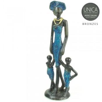 Moeder met twee kinderen Afrikaans