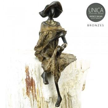 Mariam Afrikaanse vrouw bronzen beeldje