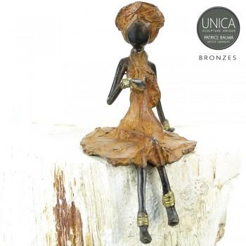 Afrikaans beeldje vrouw titel Gisele
