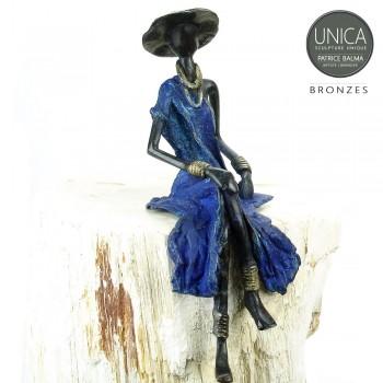 Bronzen Afrikaans beeld titel Amitee