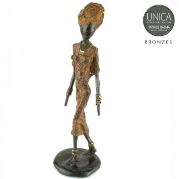 Viviane bronzen beeld Afrikaanse