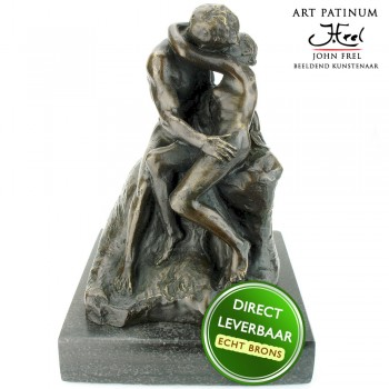 Bronzen beeld The Kiss, De Kus Art Unica