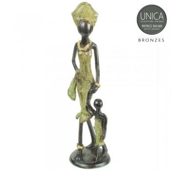 Eerste stapjes beeldje brons