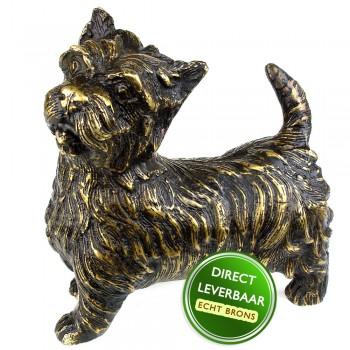 Bronzen beeld Hond terrier