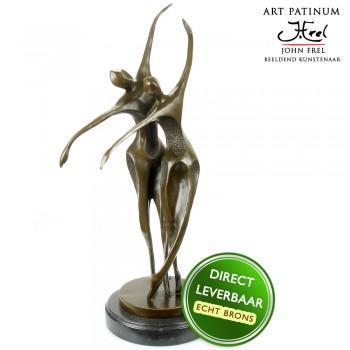 Bronzen beeld Danspaar Art Unica