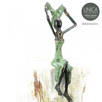 Afrikaans bronzen beeldje vrouw titel Xavierre