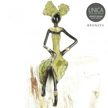 Benoitte bronzen beeld Afrikaanse vrouw