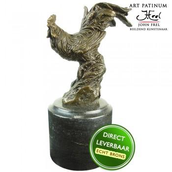 Haan bronzen beeld Unica