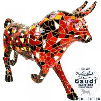 Beeld stier rood 32cm Gaudi