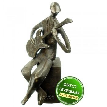 Gitarist bronzen beeldje