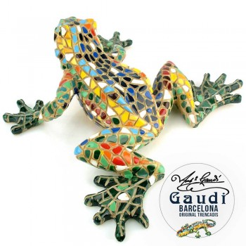 Mozaiek beeldje Gaudi kikker