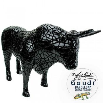 Beeld stier zwart Mozaiek