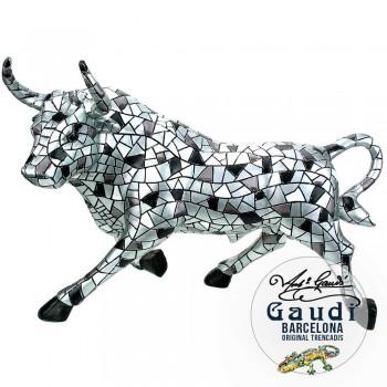 Gaudi beeld stier zilver