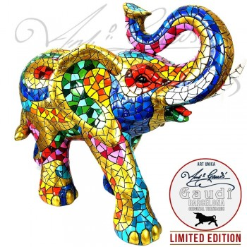 Olifant beeld Gaudi veelkleurig