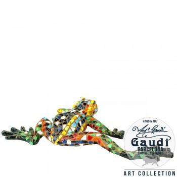 Kikker beeldje Gaudi mozaiek 14cm