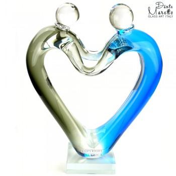 Gedeeld Hart Glassculptuur