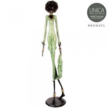 Bronzen beeld Afrikaans Armelle Unica
